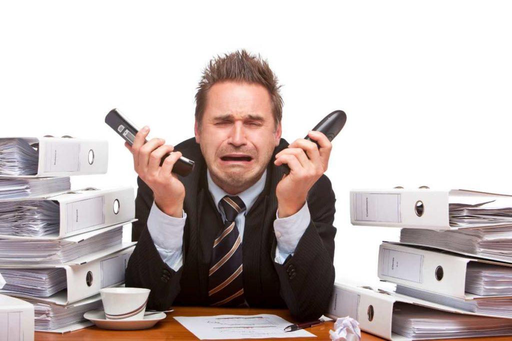 電話でストレス