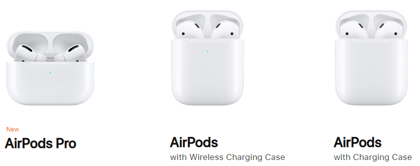 AirPodsの種類