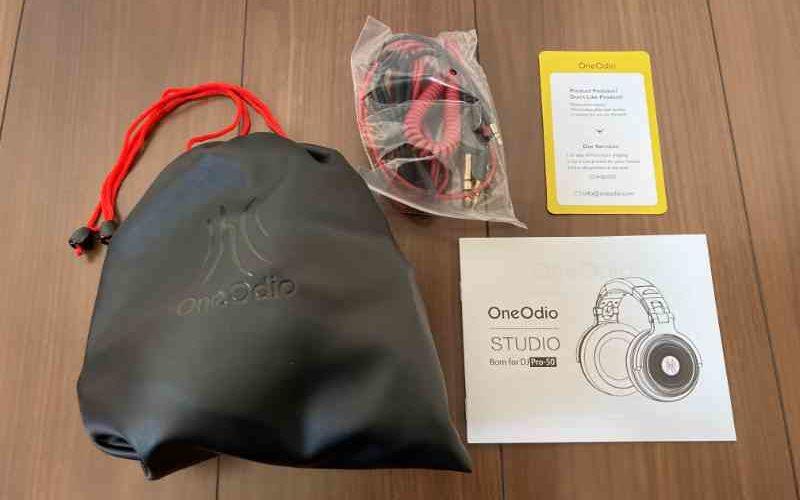OneOdio Pro50の内容物全て