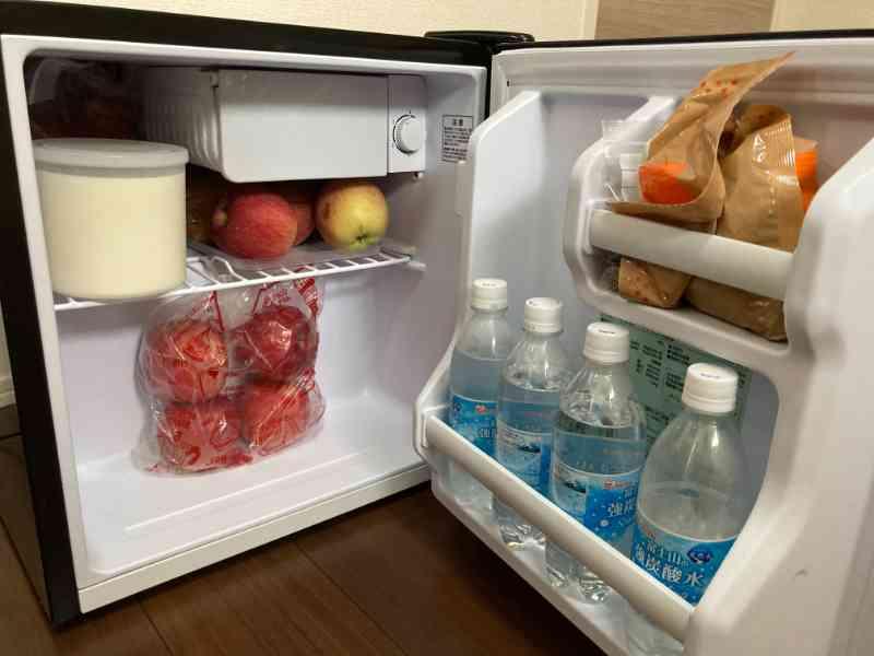 アイリスオーヤマ製ミニ冷蔵庫の我が家の中身
